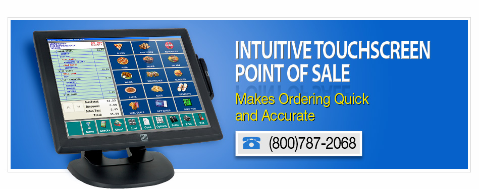 intuitive touchscreen point of sale makes ordering quick and accurate