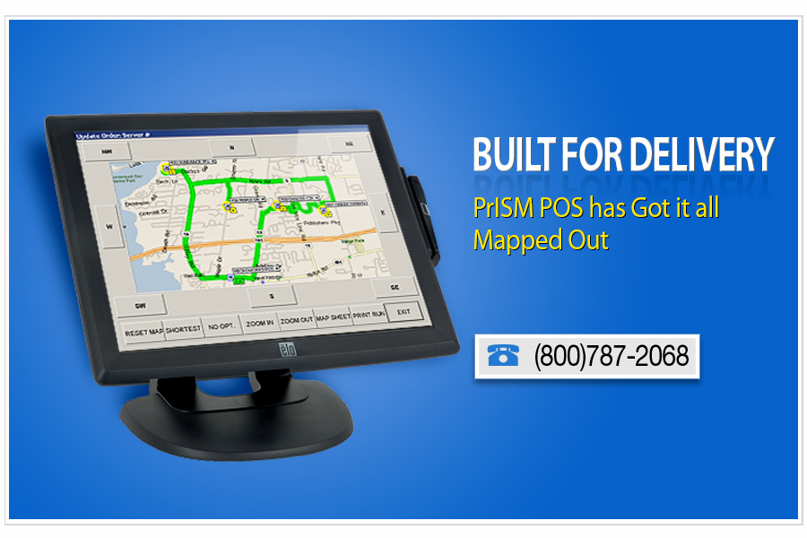 restaurant point of sale that is built for delivery prism pos has got it all mapped out