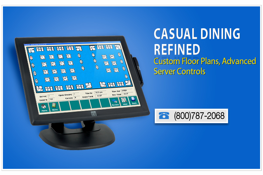 restaurant point of sale for casual dining refined with custom floor plans and advanced server controls