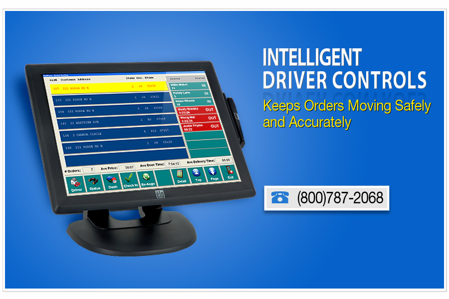 restaurant point of sale with intelligent driver controls keep orderis moving safely and accurately